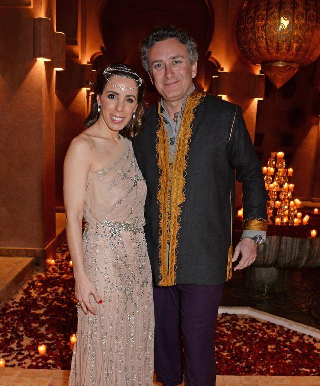 Foto: Ana Aznar y Alejandro Agag en una imagen de la gala. (Getty)