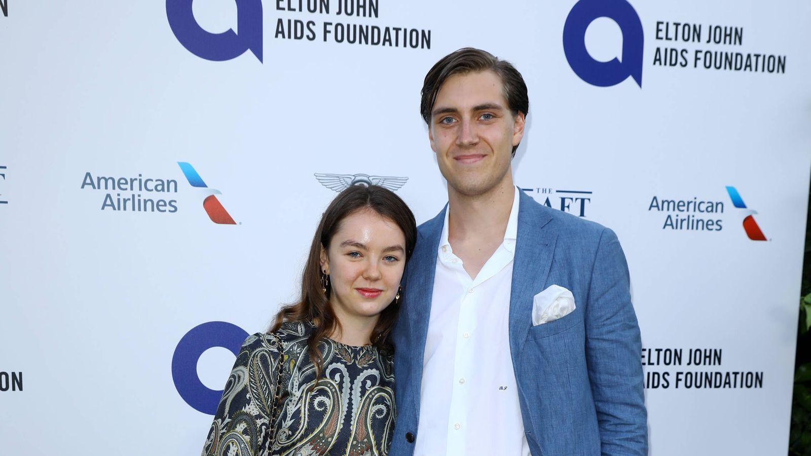 Foto: Alexandra de Hannover y Ben Sylvester-Strautmann en la fiesta organizada por Elton John. (Getty)