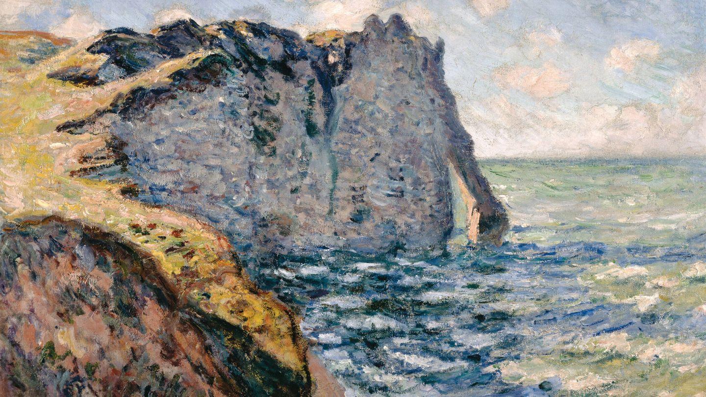 'The Cliff of Aval, Etrétat'. (Claude Monet)
