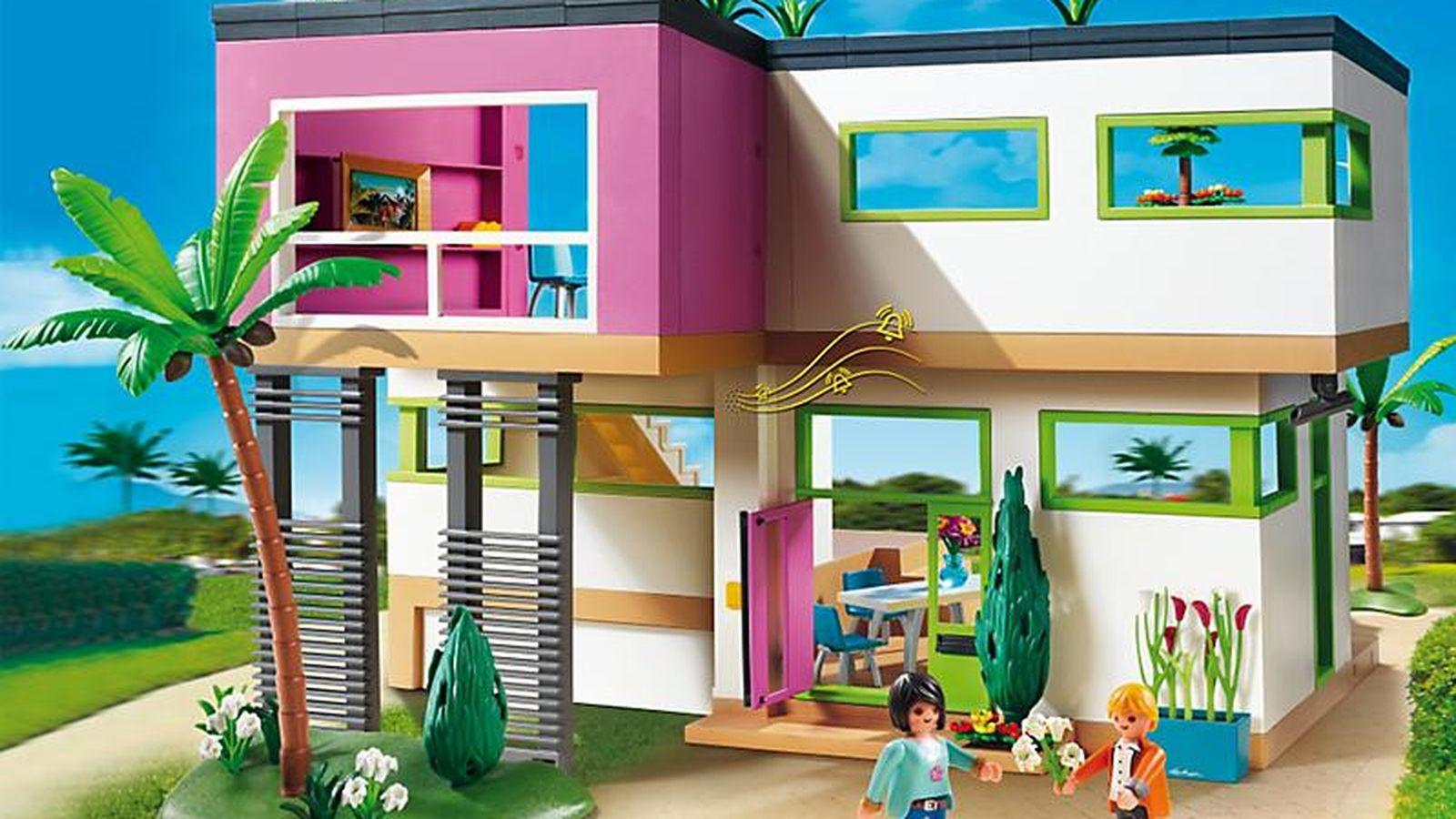Vivienda la casa de lujo de playmobil valorada en 6 for Casa moderna playmobil 5574
