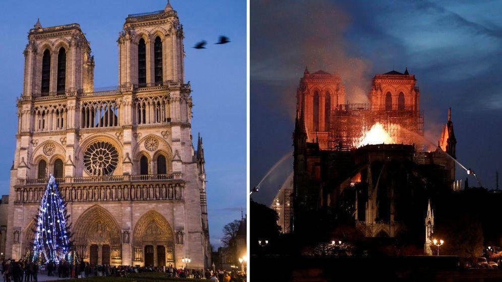 Foto: Las dos torres de la catedral de Notre Dame se salvaron del incendio, no así muchas de las obras de arte de su interior (Reuters)