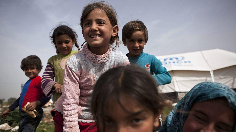 Niños refugiados sirios.