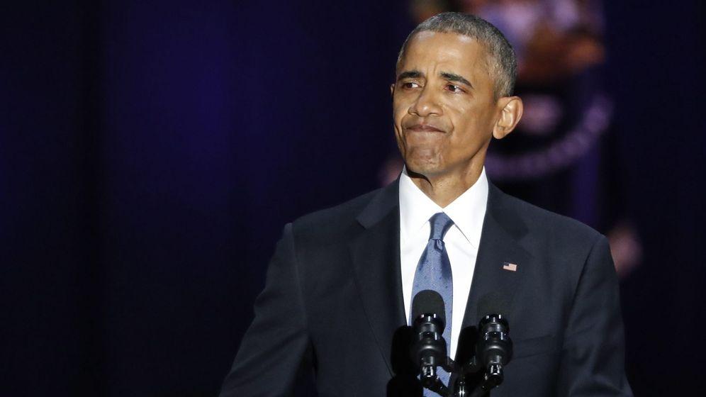 Foto: El presidente de Estados Unidos, Barack Obama, durante su discurso de despedida como mandatario. (EFE)