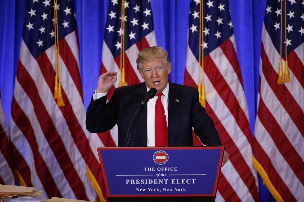 Foto: Donald Trump, durante su primera rueda de prensa como presidente electo, en Nueva York. (Reuters)