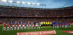 Post de La Copa culé menos celebrada dejó más de 6.000 huecos en el adiós al Calderón