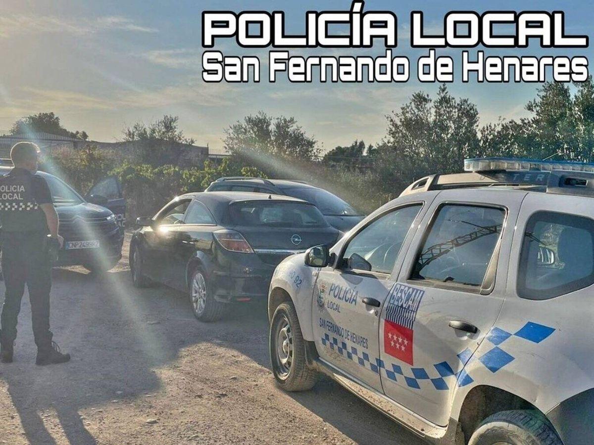 Foto: Han detenido a la conductora de 39 años tras una persecución policial.(Policía Local de San Fernando de Henares)