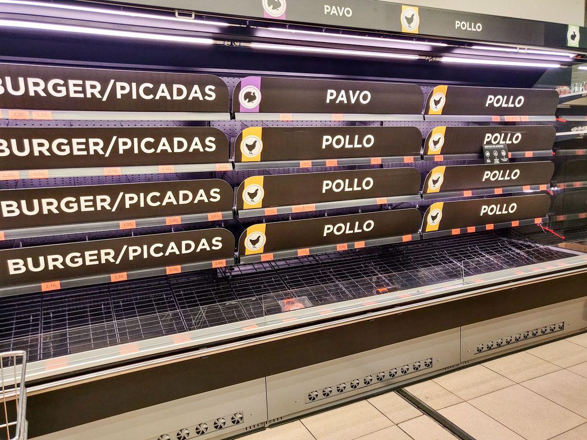 Foto: Supermercados vacíos en madrid por el coronavirus (EFE)