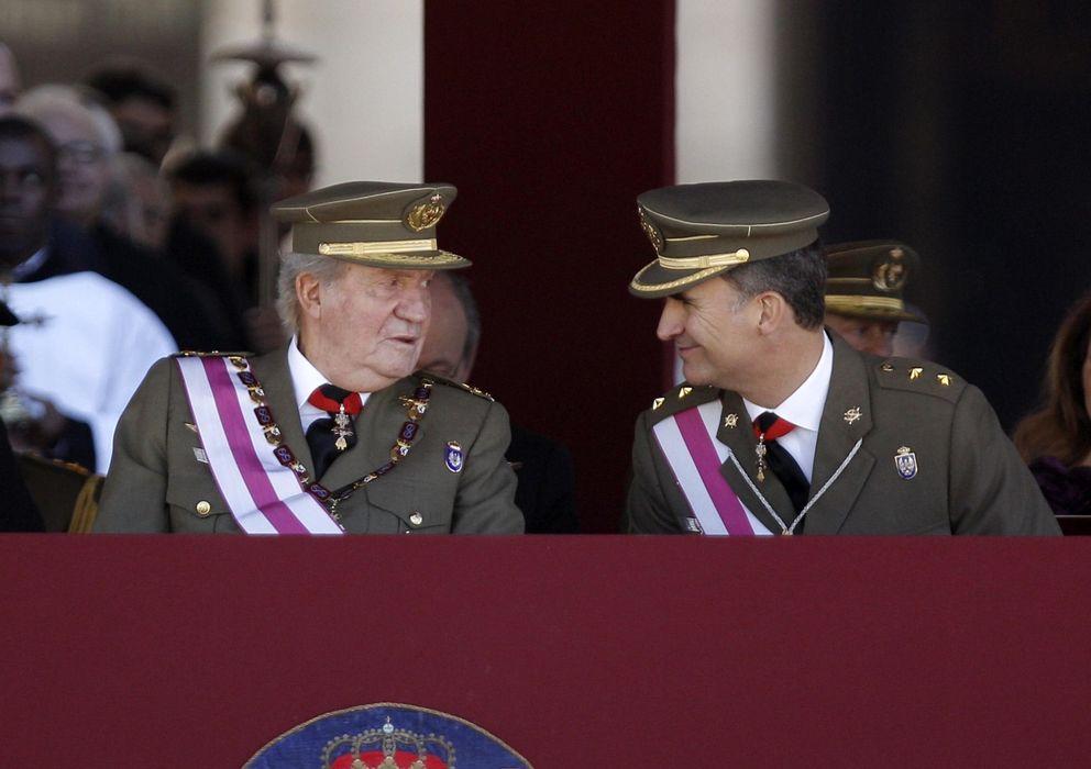Foto: El Rey y el Príncipe en el último acto juntos. (Efe)
