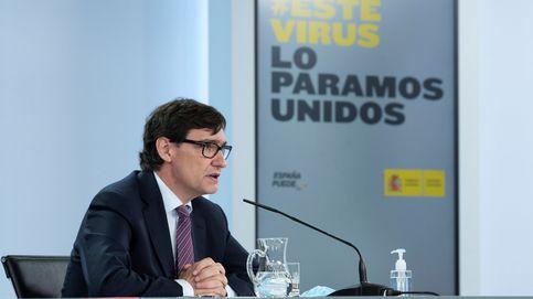 Rueda de prensa del ministro Salvador Illa tras la reunión de seguimiento del covid