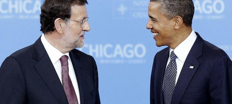 Foto: El presidente de España, Mariano Rajoy, conversa con el presidente de Estados Unidos, Barack Obama. (EFE)