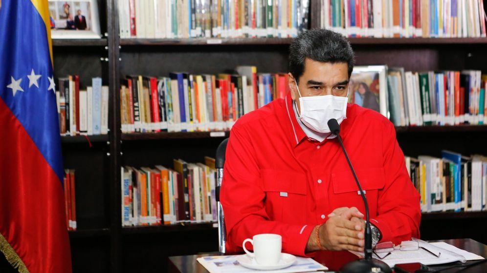 Foto: El presidente venezolano, Nicolás Maduro, durante una videoconferencia con miembros de su gabinete, este viernes. (EFE)