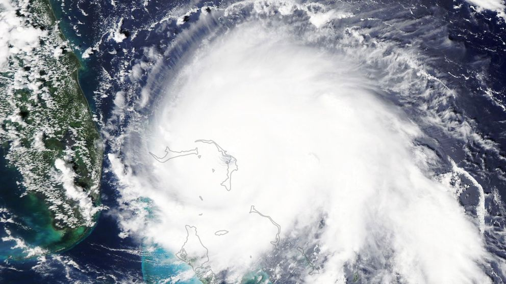 Así se ve el huracán Dorian, que está azotando Bahamas, desde el espacio