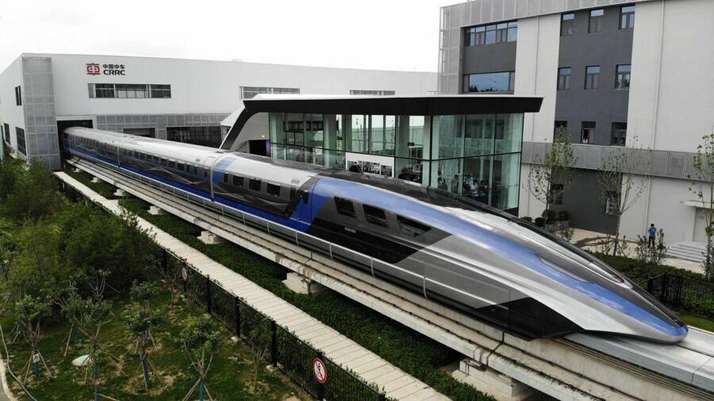 Foto: El nuevo tren de velocidad chino puede ir a 600 km/h (CRRC)