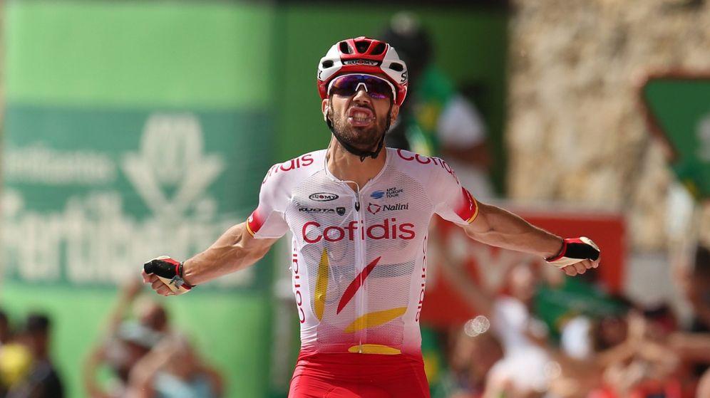 Foto: Jesús Herrada celebra su victoria en Ares del Maestrat. (EFE)