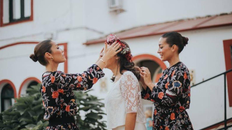 Patricia y Lidia Gómez, ejerciendo de wedding planners. (Foto: Silvia Sánchez)