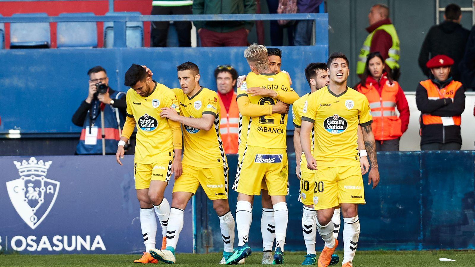 Foto: Jugadores del CD Lugo celebran un gol. (Europa Press)