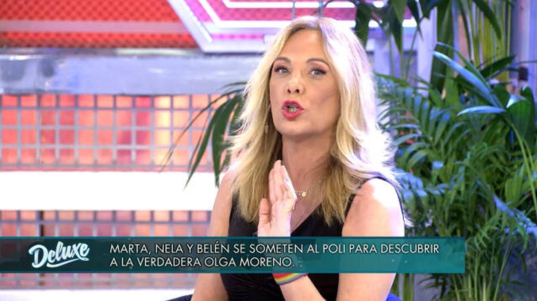 Belén Rodríguez en 'Domingo deluxe'. (Telecinco)