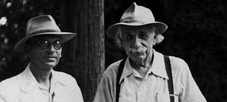 Foto: Kurt Godel (autor del argumento lógico ahora confirmado) junto con Albert Einstein
