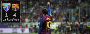 El Barcelona obedece a Guardiola y liquida al Málaga con un 'hat-trick' de un Messi soberbio