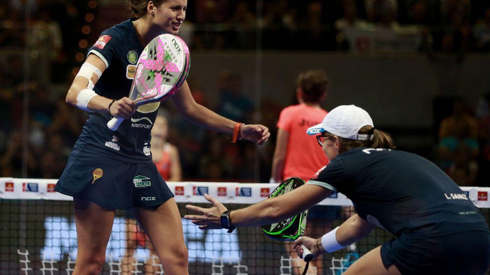 Foto: Gemma Triay y Lucía Sainz ganaron en Zaragoza su segundo torneo seguido. (EFE)
