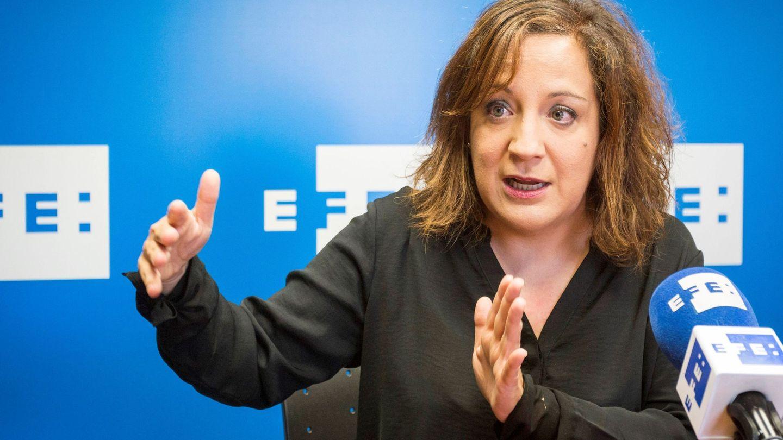 Iratxe García, portavoz de la delegación del PSOE en Bruselas, el pasado 31 de octubre en Valladolid. (EFE)