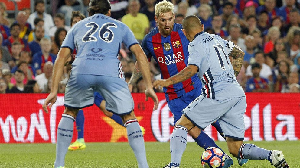 Messi se merienda el Gamper mientras Argentina aguanta la respiración