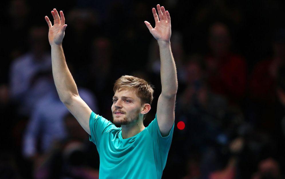 Foto: Goffin dio la gran sorpresa del torneo al derrotar a Federer en una de las semifinales. (EFE)