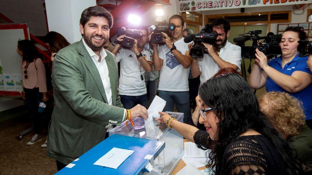 Foto: El candidato a la presidencia de la Comunidad de Murcia por el Partido Popular, Fernando López Miras. (EFE)