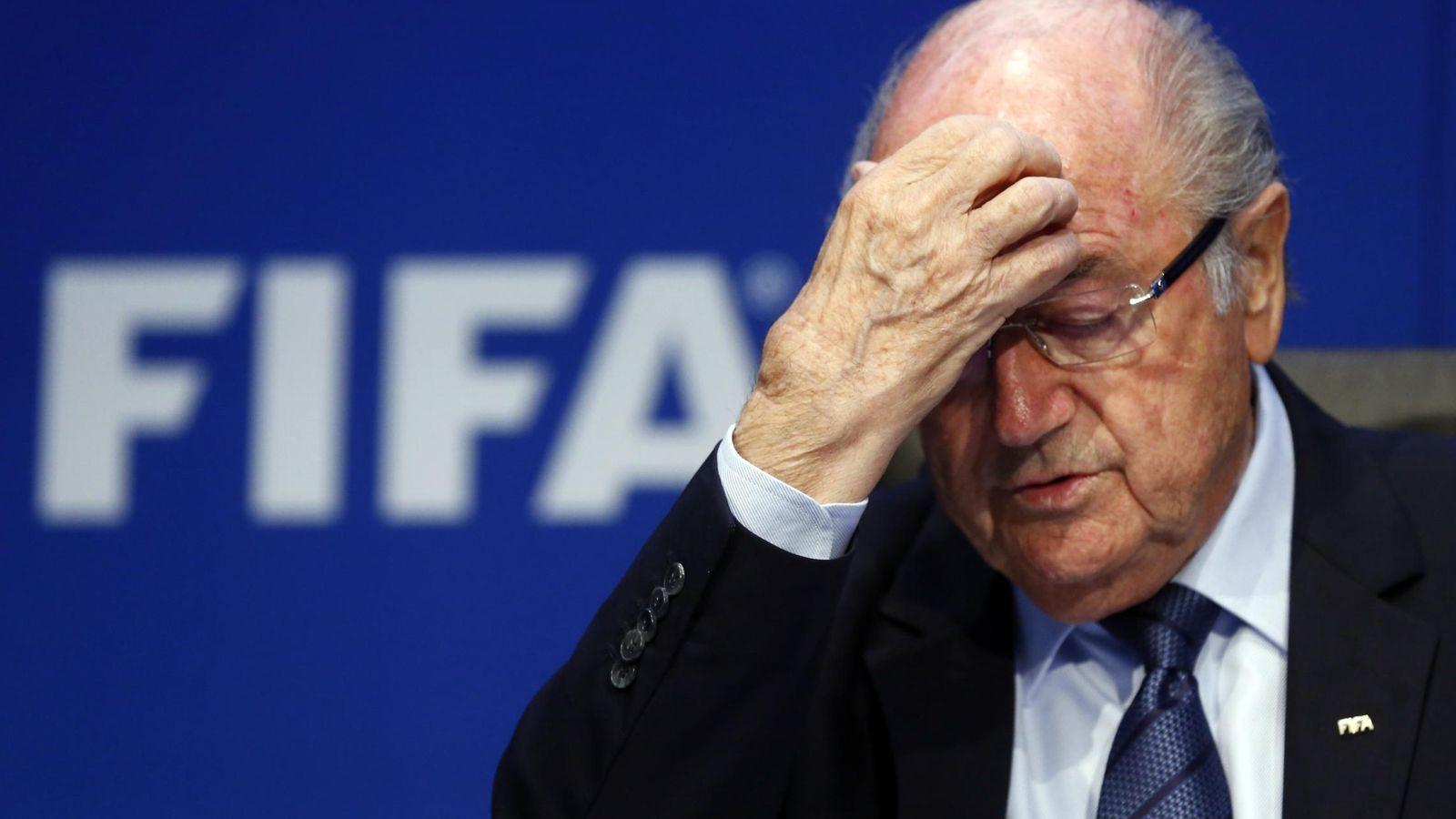 Foto: Blatter sigue siendo presidente de FIFA pese a todo (Reuters).