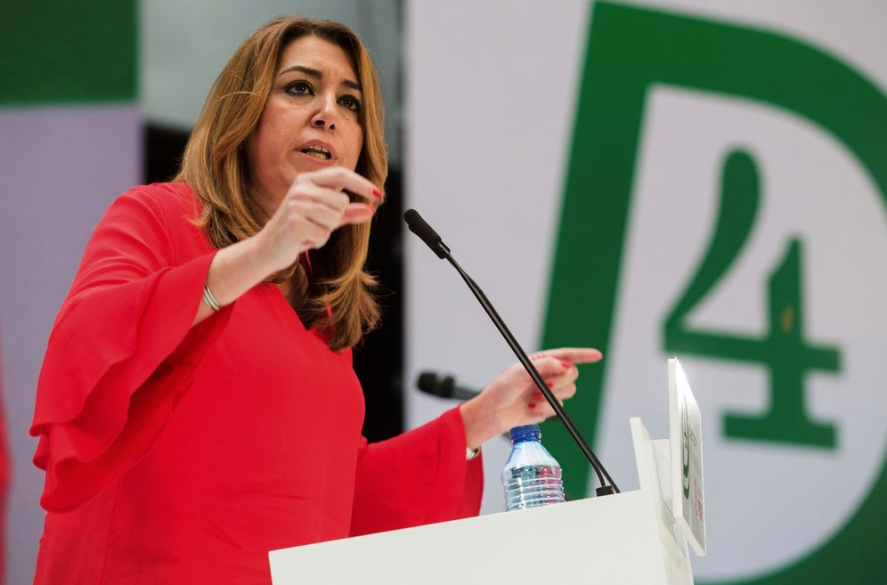Foto: Susana Díaz, durante su mitin de este 2 de diciembre en Torremolinos, con motivo del 40º aniversario del 4-D. (EFE)