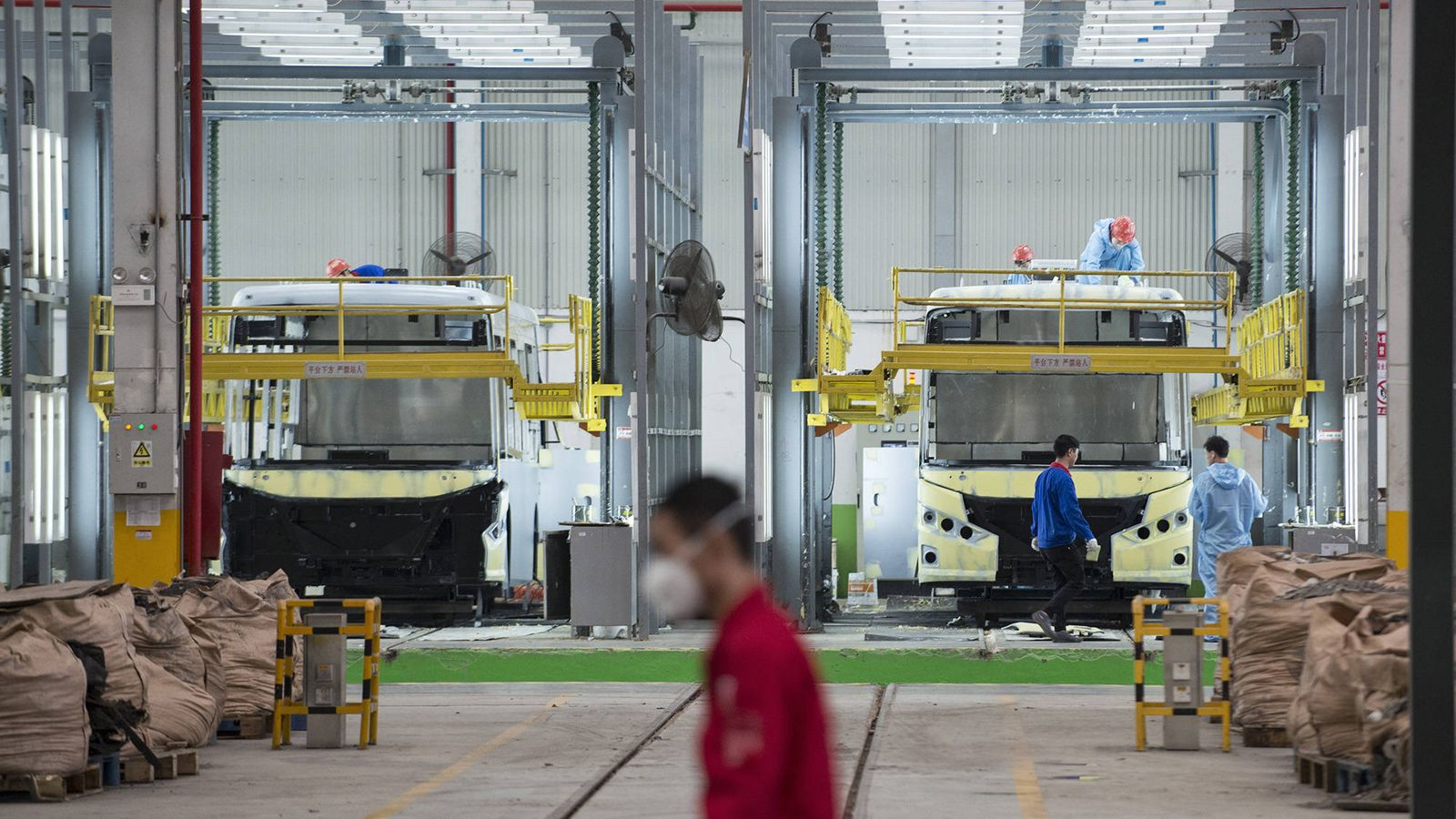 Foto: La principal fábrica de autobuses eléctricos de BYD, la empresa que más produce en todo el mundo. (Z. Aldama)