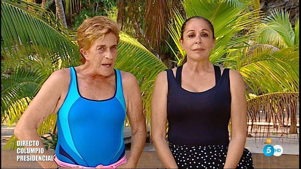 Foto: Chelo e Isabel Pantoja, cara a cara en 'Supervivientes 2019'. (Telecinco)