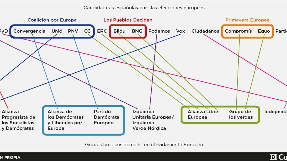 ¿A qué partido europeo das tu voto? Las coaliciones se deshacen