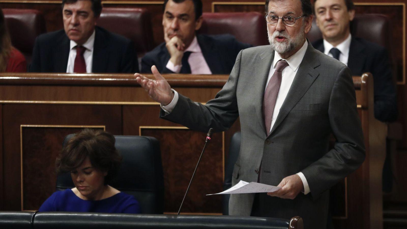 Foto: Rajoy durante la sesión de control. (Reuters)