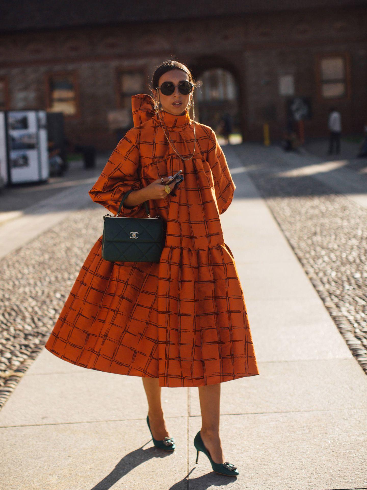 Un vestido visto en Milán. (Imaxtree)