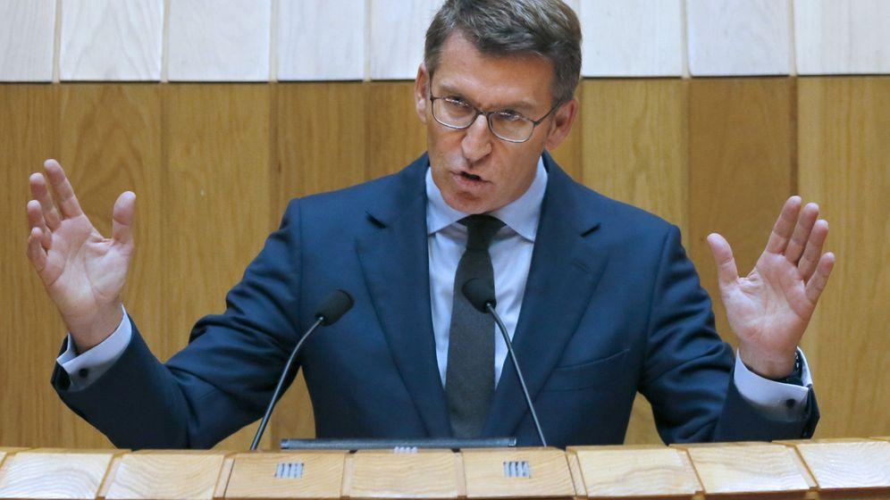 Foto: El presidente de la Xunta, Alberto Núñez Feijóo, en el Parlamento de Galicia. (EFE)