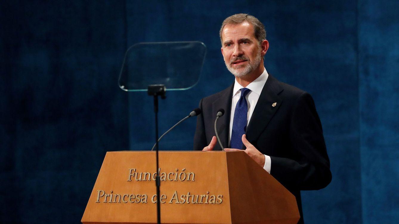 El Rey evita cualquier mención a Cataluña en el discurso de los Princesa de Asturias