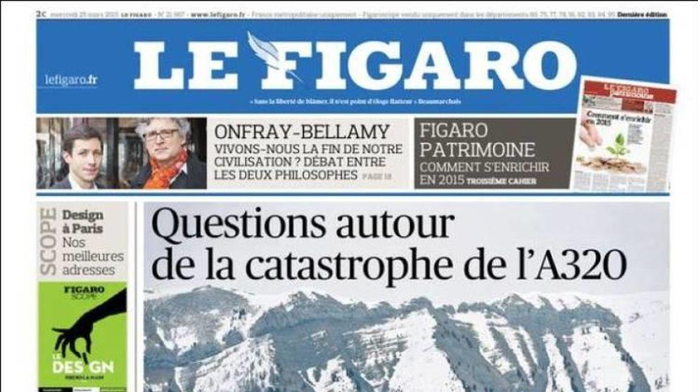 El accidente de avión en Francia en la prensa nacional e internacional
