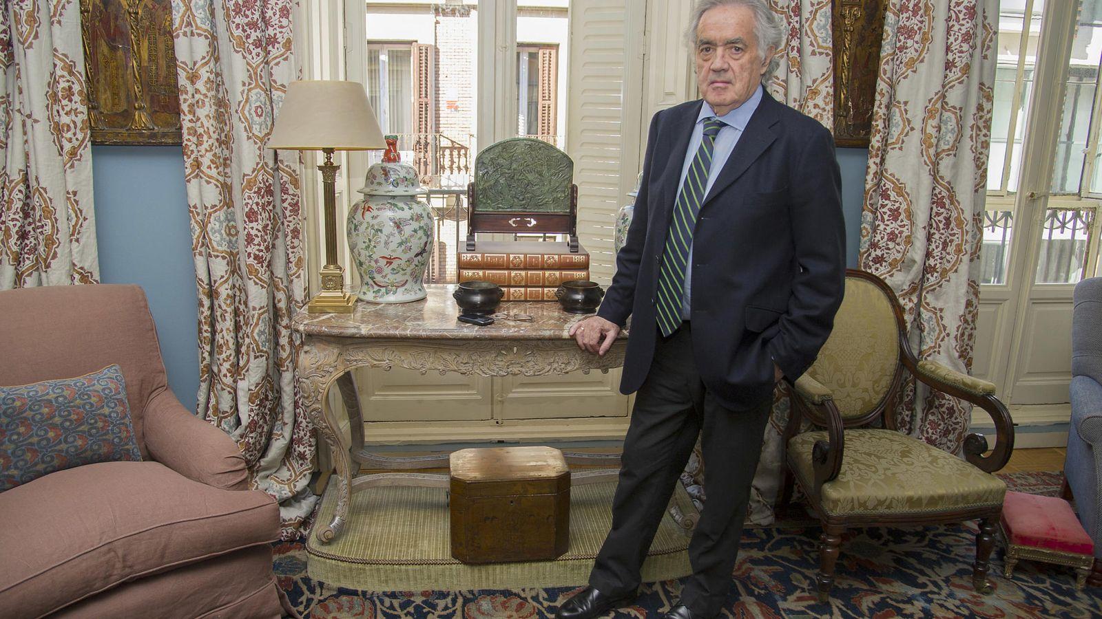 Foto: Alfredo Fraile en su casa de Madrid (Gtres)