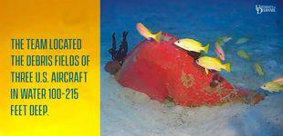 Post de Encuentran tres bombarderos caídos en la 2ª Guerra Mundial en Micronesia