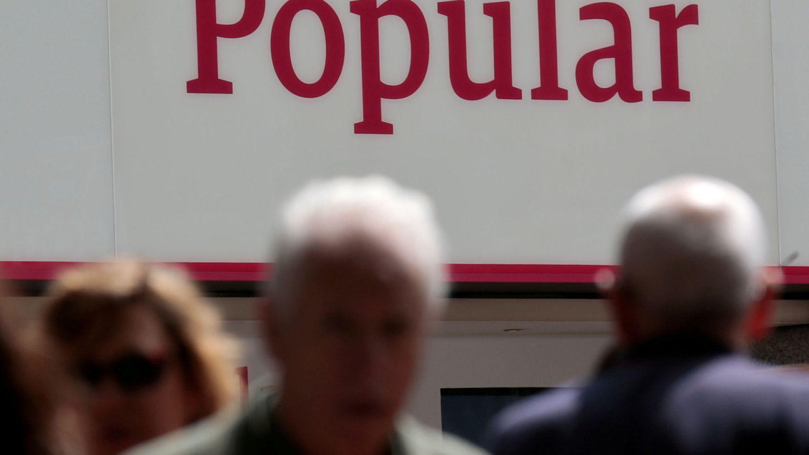 Foto: Logotivo del Banco Popular (Reuters)