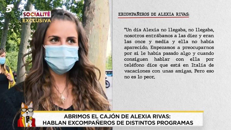 Alexia, en 'Socialité'. (Telecinco).