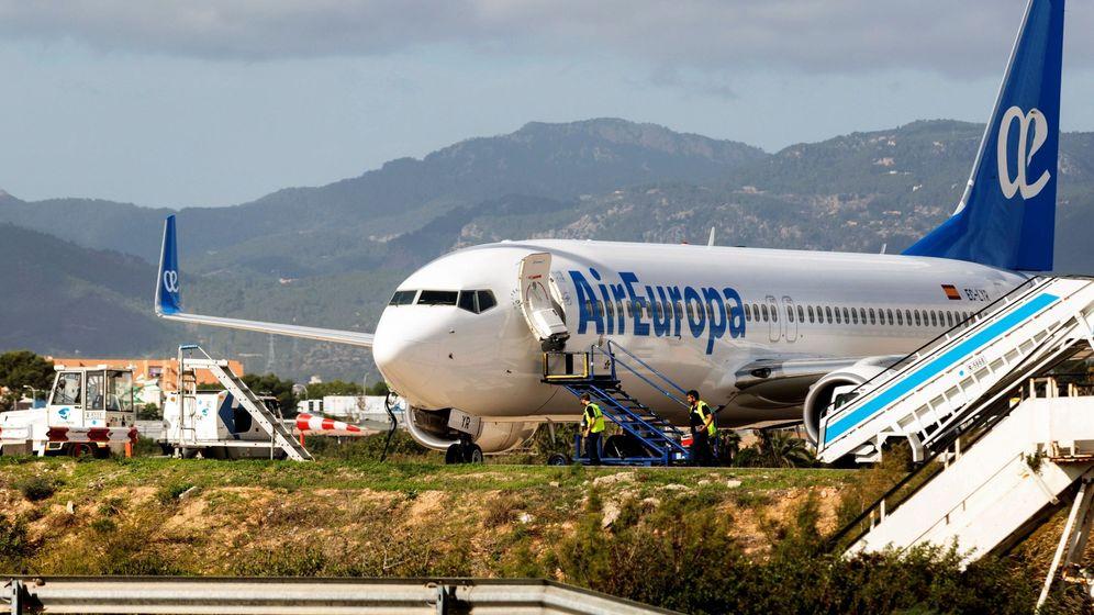 Foto: Avión de Air Europa estacionado en Palma de Mallorca. (EFE)