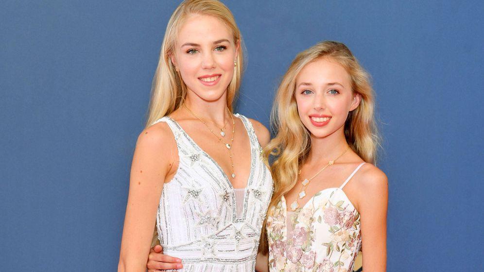 Foto: Chiara de Borbón Dos Sicilias, junto a su hermana. (Getty)