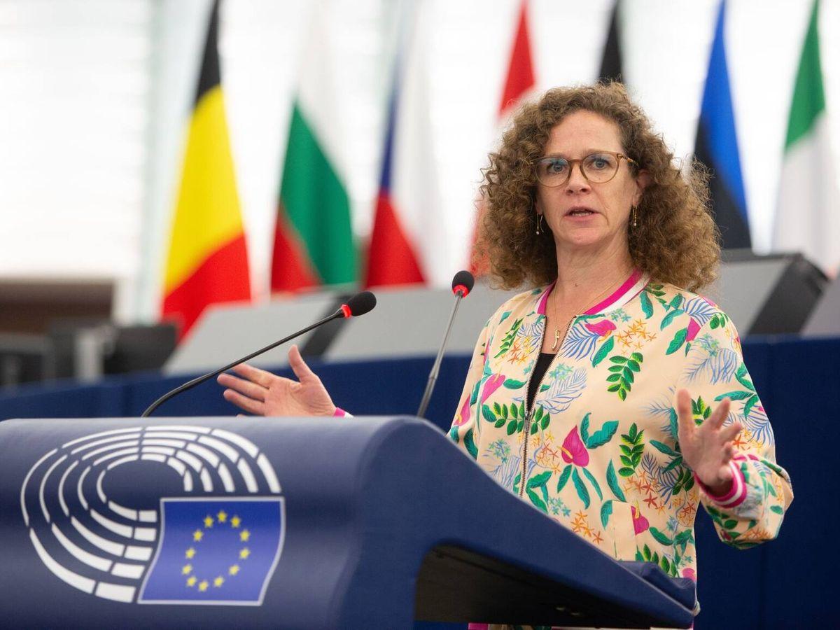 Foto: La eurodiputada Sophie in 't Veld, en sesión parlamentaria. (Parlamento Europeo)
