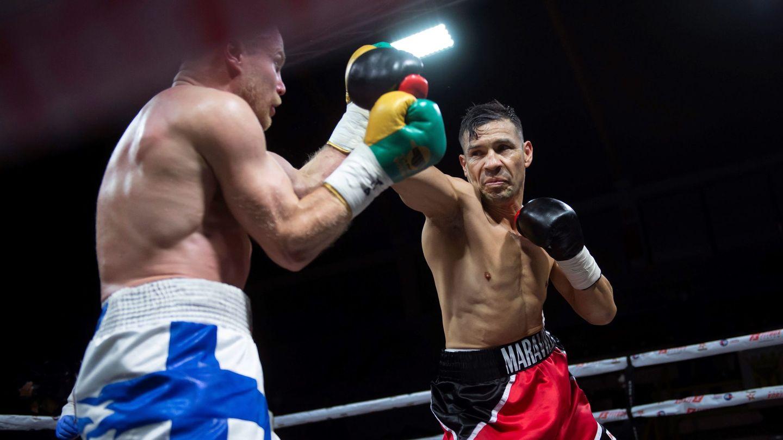 Maravilla Martínez, durante su combate con Rose. (Efe)