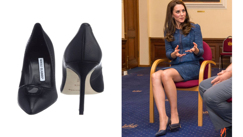 Los zapatos de Manolo Blahnik que tiene Kate Middleton. (Reuters)