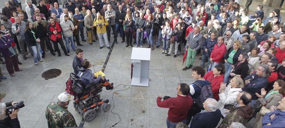 Foto: Encuentro de Pablo Echenique en Zaragoza