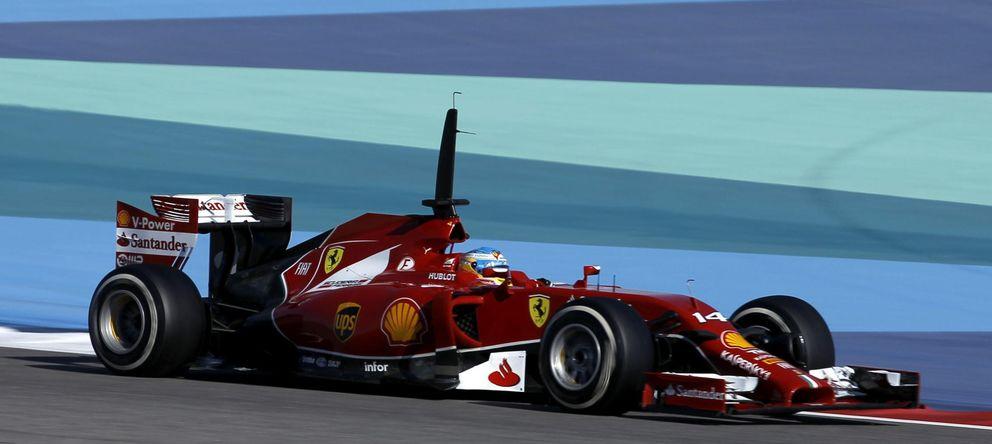 Foto: Fernando Alonso en el F14-T durante los entrenamientos.