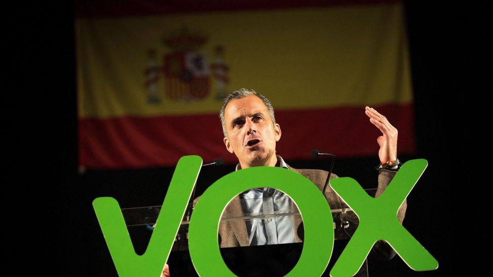 Foto:  El secretario general de Vox, Javier Ortega Smith, en un acto en Zaragoza. (EFE)